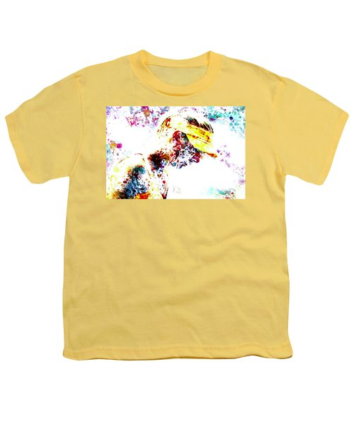 Maria Sharapova Paint Splatter 4p                 Youth T-Shirt by Brian Reaves