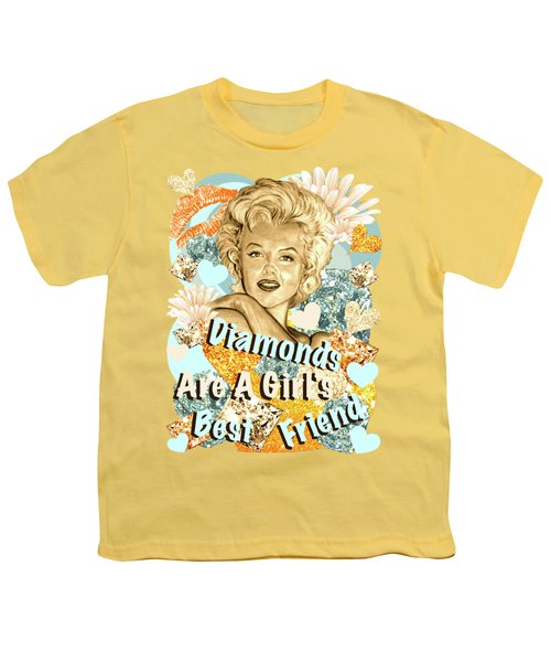 Marilyn Diamonds Are A Girls Best Friend Youth T-Shirt