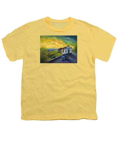 Memories Neath A Yellow Sky Youth T-Shirt
