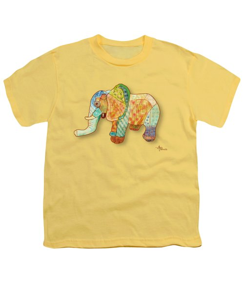 Multicolor Elephant Youth T-Shirt by Angeles M Pomata