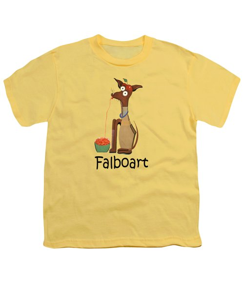 My Applehead Chiwawa Youth T-Shirt by Anthony Falbo