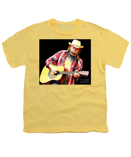 Neil Young Youth T-Shirt by John Malone
