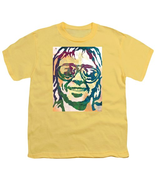Neil Young Pop Stylised Art Poster Youth T-Shirt by Kim Wang