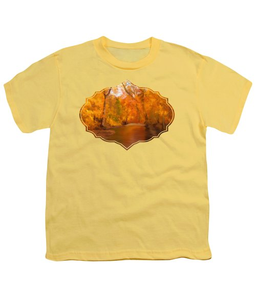 New England Autumn In The Woods Youth T-Shirt