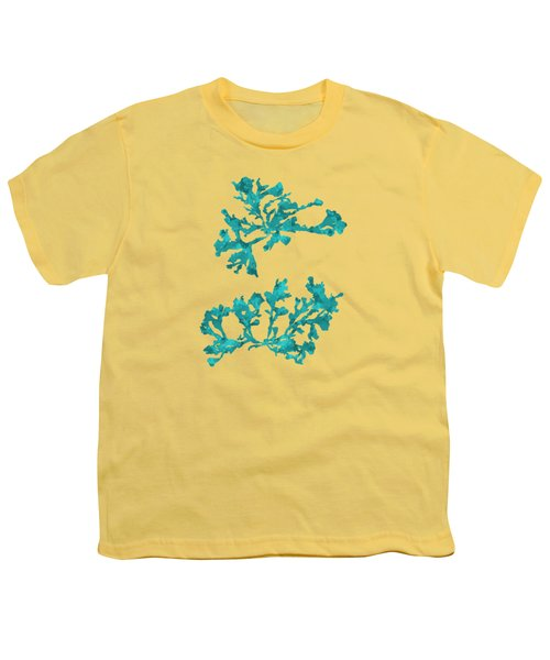 Ocean Seaweed Plant Art Phyllophora Rubens Youth T-Shirt by Christina Rollo