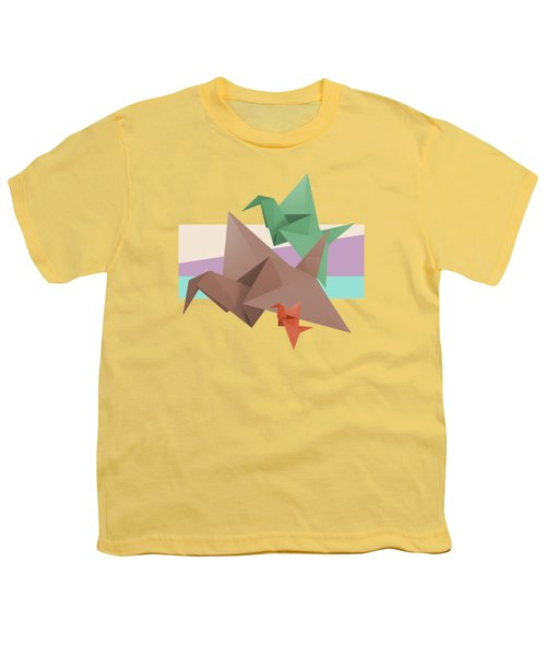Paper Cranes Youth T-Shirt by Absentis Designs