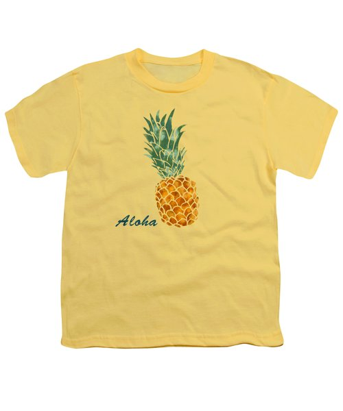 Pineapple Youth T-Shirt by Jirka Svetlik