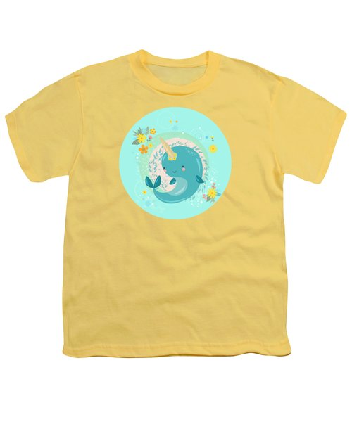 Pretty Princess Narwhal Youth T-Shirt