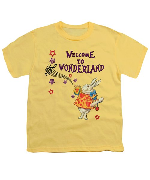 Rabbit Welcome To .. Alice In Wonderland Youth T-Shirt