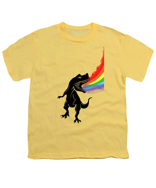 Rainbow Dinosaur Youth T-Shirt by Mark Ashkenazi