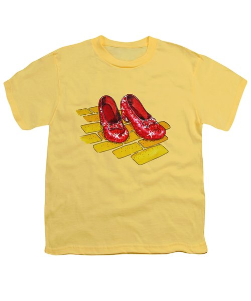 Ruby Slippers Wizard Of Oz Youth T-Shirt