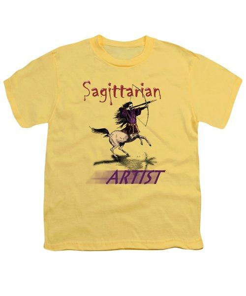 Sagittarian Artist Youth T-Shirt