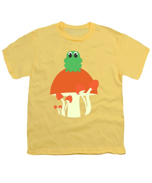 Small Frog Sitting On A Mushroom  Youth T-Shirt