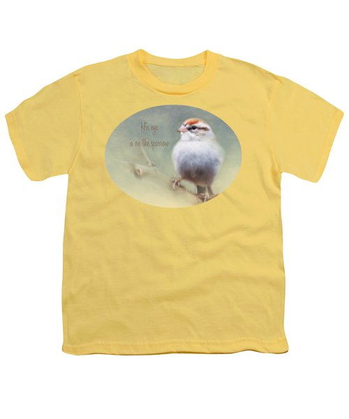 Serendipitous Sparrow - Phrase Youth T-Shirt by Anita Faye