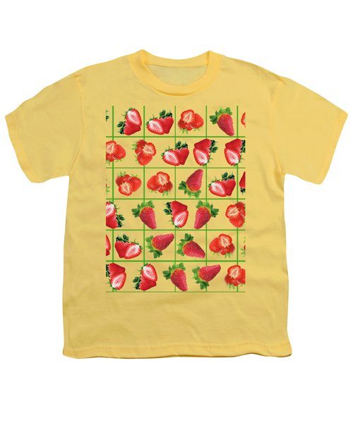 Strawberries Pattern Youth T-Shirt
