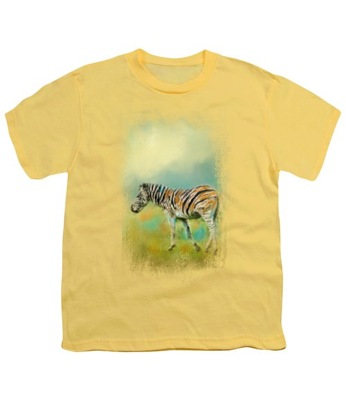 Summer Zebra 2 Youth T-Shirt by Jai Johnson