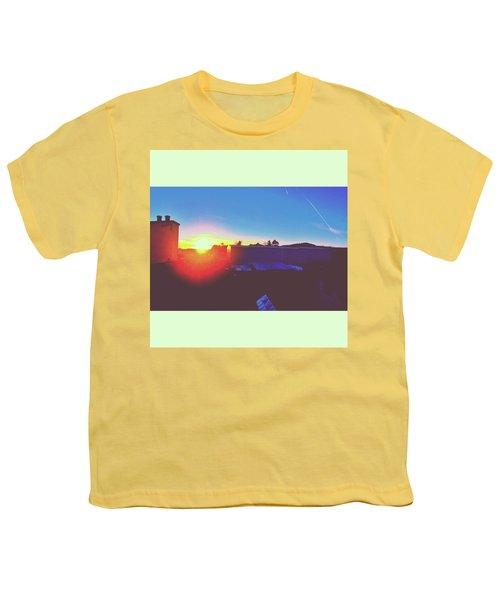 #sunset #bluesky #sun #l4l #lfl Youth T-Shirt