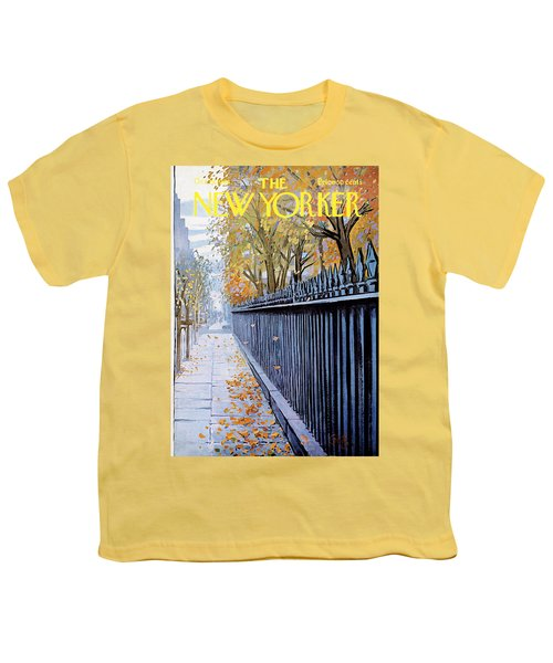 Autumn In New York Youth T-Shirt