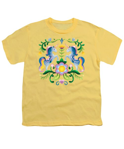 The Royal Society Of Cute Unicorns Light Background Youth T-Shirt