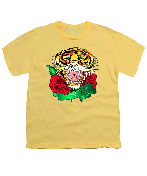Tiger L Youth T-Shirt by Mark Ashkenazi