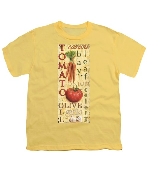 Tomato Soup Youth T-Shirt by Debbie DeWitt