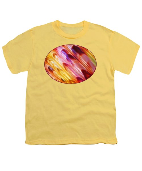 Triton Seashell Multicolor Abstract Youth T-Shirt by Gill Billington