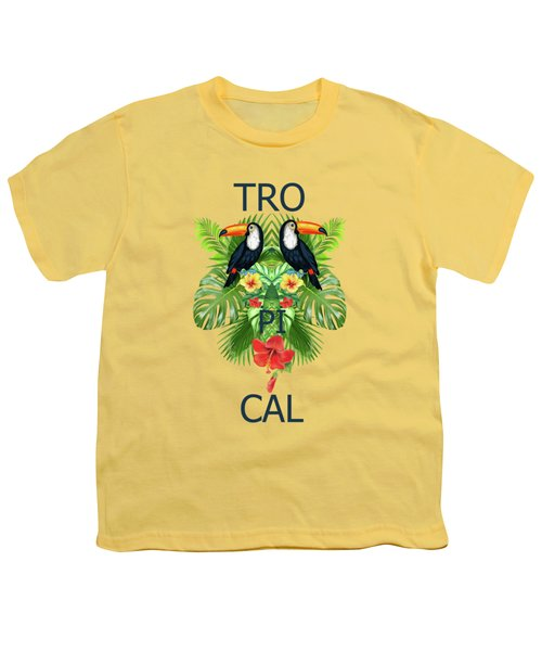 Tropical Summer  Youth T-Shirt by Mark Ashkenazi