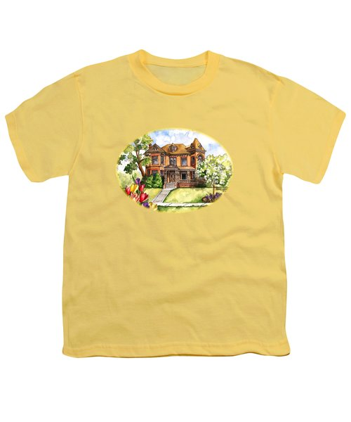 Victorian Mansion In The Spring Youth T-Shirt