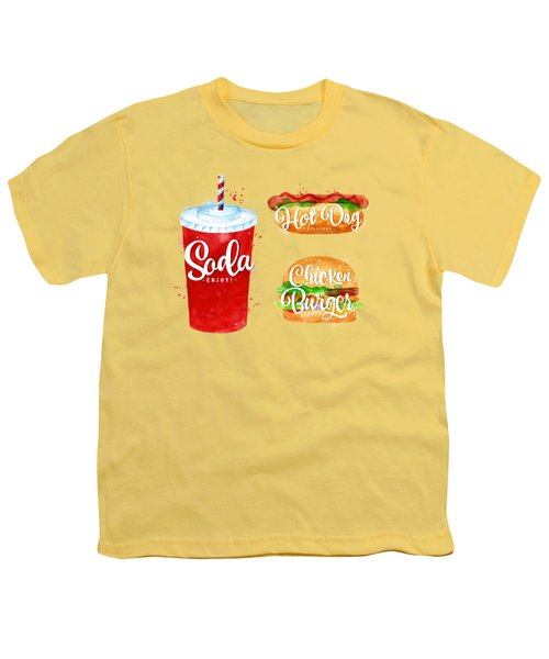 Vintage Soda Youth T-Shirt by Aloke Creative Store