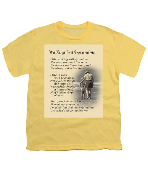 Walking With Grandma Youth T-Shirt