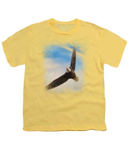 When My Wings Touch The Rainbow Youth T-Shirt by Jai Johnson
