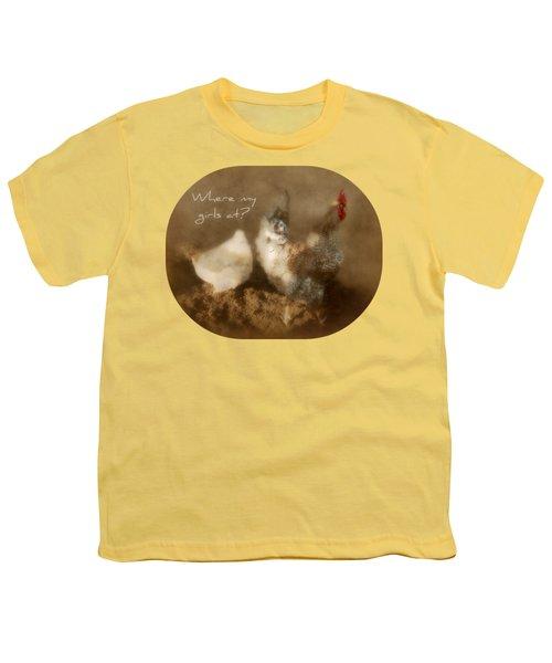 Where My Girls At Youth T-Shirt by Anita Faye
