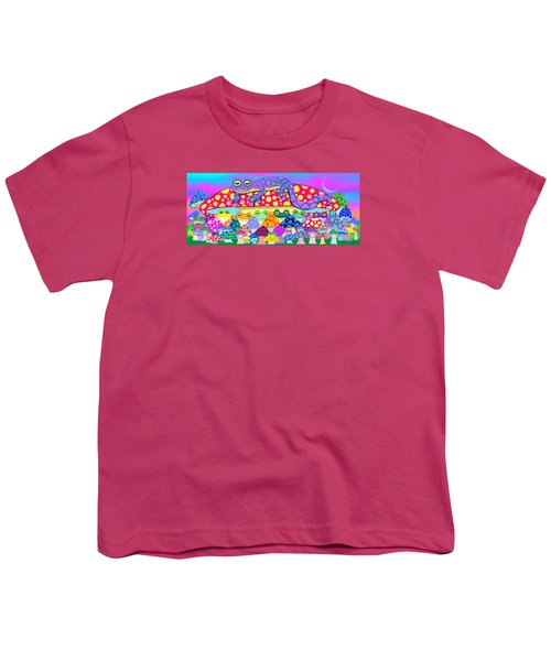 Mushroom Meadow Frogs Youth T-Shirt