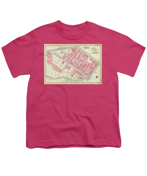 1930 Inwood Map  Youth T-Shirt by Cole Thompson
