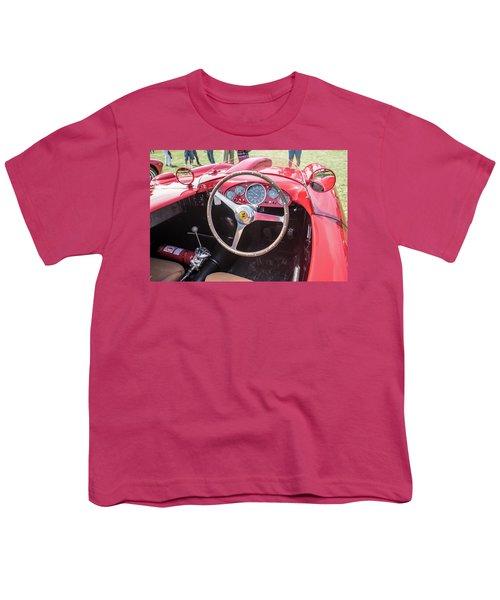 Youth T-Shirt featuring the photograph 1956 Ferrari 290mm - 4 by Randy Scherkenbach