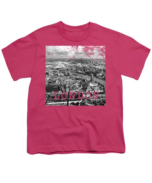 Aerial View Of London Youth T-Shirt by Mark Rogan