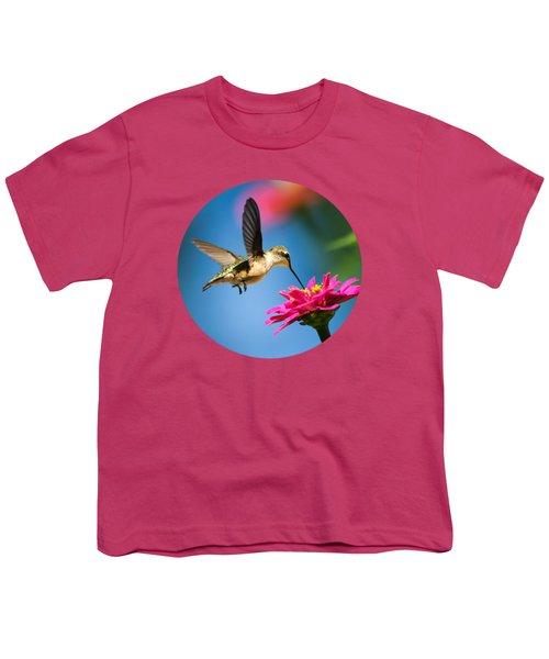 Art Of Hummingbird Flight Youth T-Shirt by Christina Rollo
