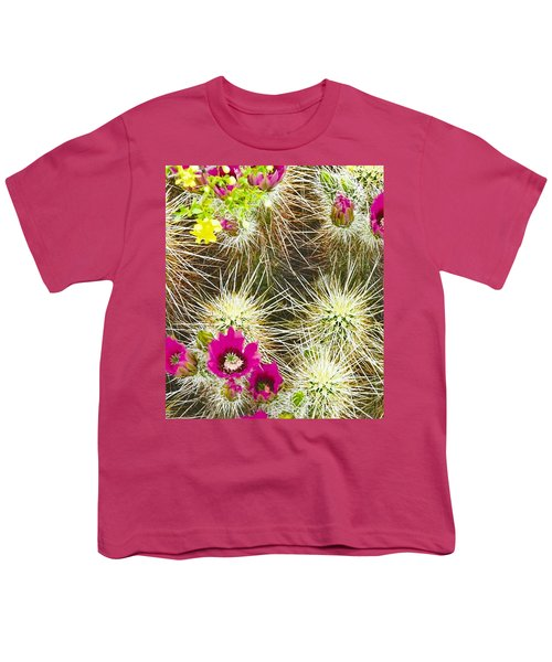 Cholla Cactus Blooms Youth T-Shirt