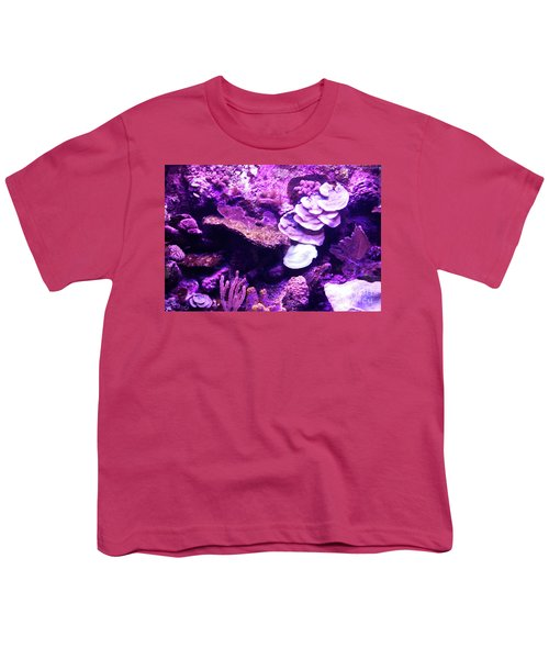 Youth T-Shirt featuring the digital art Coral Art 5 by Francesca Mackenney