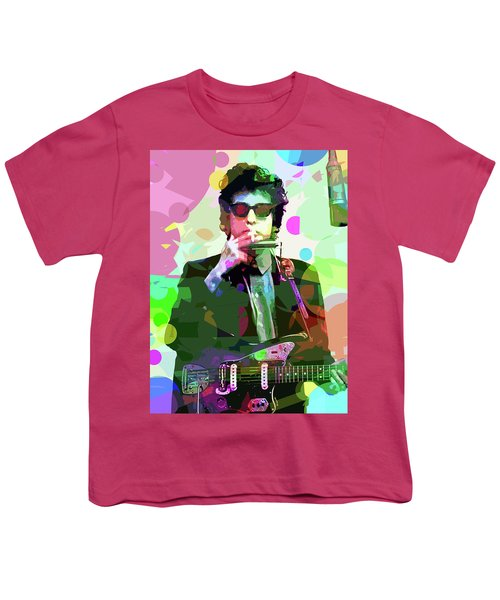 Dylan In Studio Youth T-Shirt by David Lloyd Glover