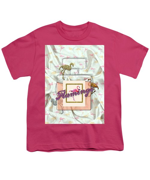 Flamingo Youth T-Shirt by La Reve Design