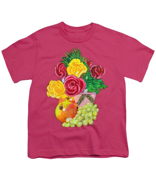 Fruit Petals Youth T-Shirt by Joe Leist -digitally mastered by- Erich Grant