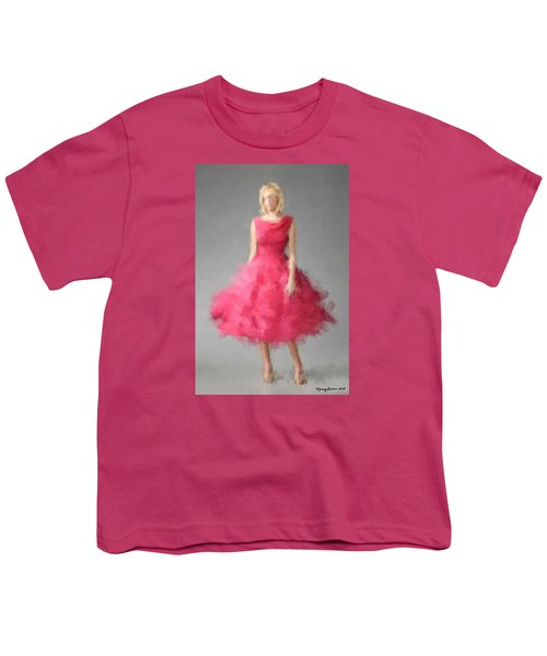 Youth T-Shirt featuring the digital art June by Nancy Levan