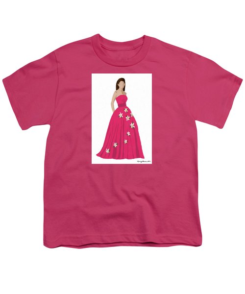 Youth T-Shirt featuring the digital art Justine by Nancy Levan