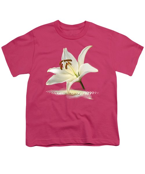 Lily Trumpet Youth T-Shirt by Gill Billington