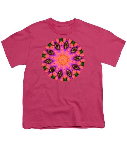 Mandala Salmon Burst - Prints With Salmon Color Background Youth T-Shirt