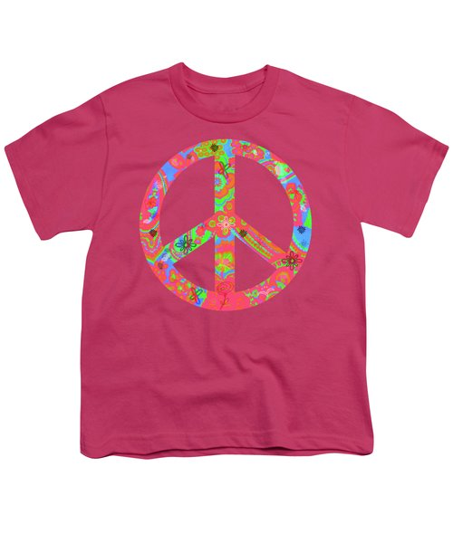 Youth T-Shirt featuring the digital art Peace by Linda Lees