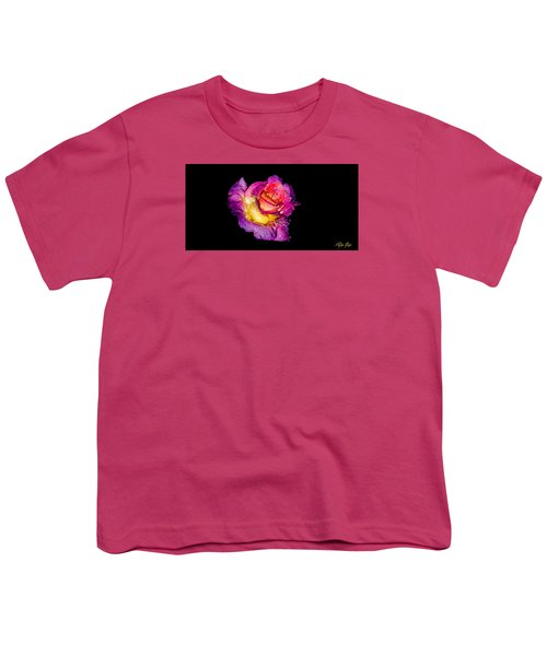 Youth T-Shirt featuring the photograph Rain-melted Rose by Rikk Flohr
