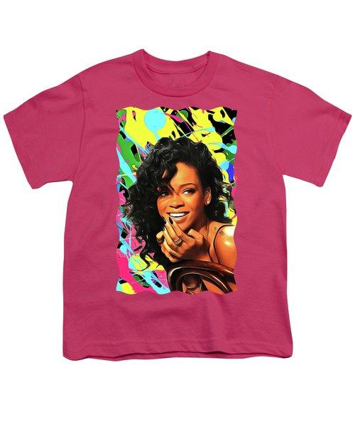 Rihanna - Celebrity Art Youth T-Shirt