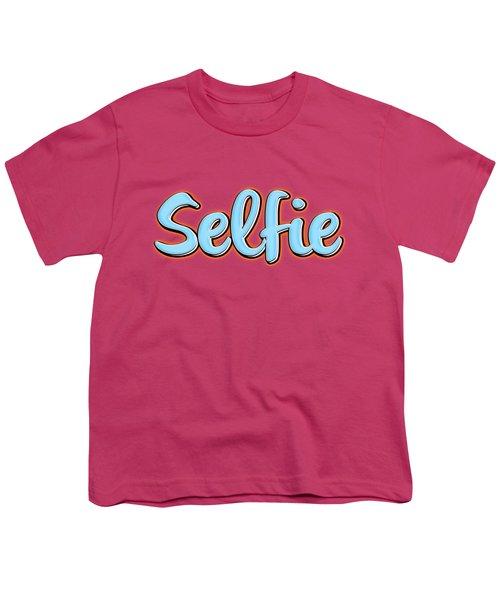 Selfie Tee Youth T-Shirt by Edward Fielding